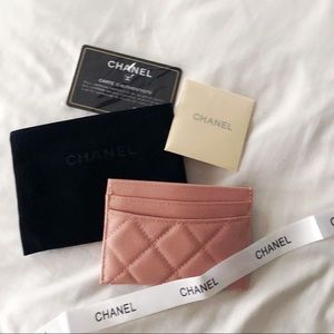 CHANEL Accessories - CHANEL Classic Card Holder Pink